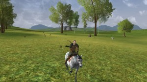 Riding my horse like a badass through the Eastern Bree Fields.